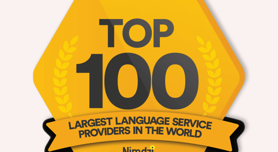 We are in the Nimdzi 100 ranking of the largest Language Services Providers in the world